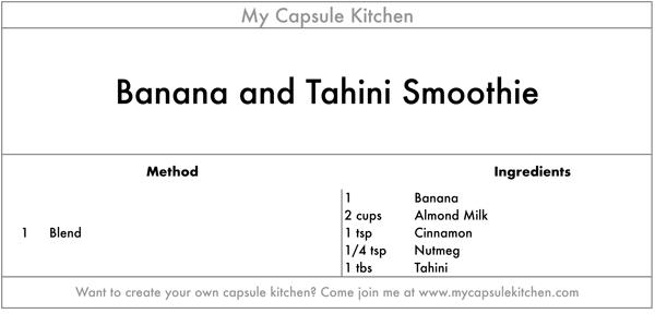 Banana and Tahini Smoothie recipe