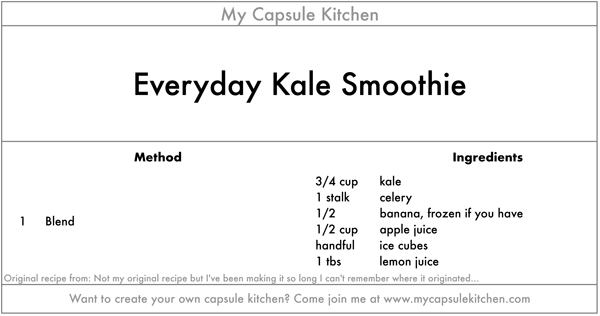 Everyday Kale Smoothie recipe