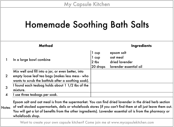 Soothing Bath Salts recipe