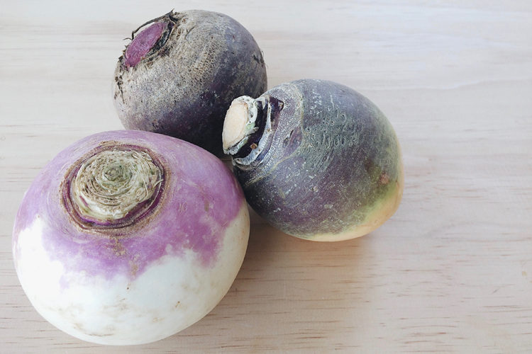 Turnip, Beetroot and Swede on a wooden surface