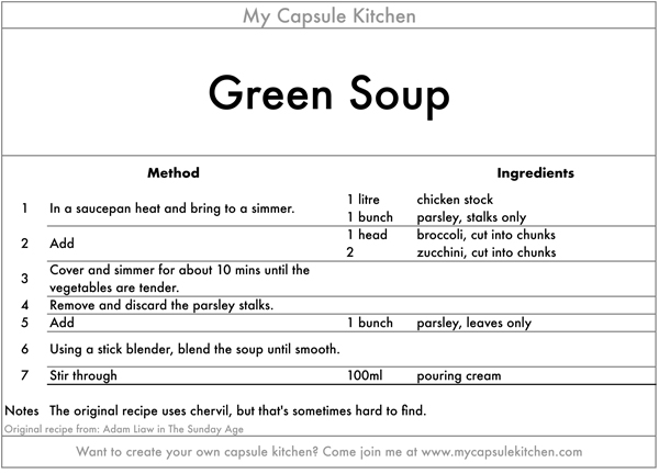 Green Soup recipe