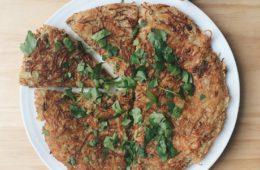 Celeriac and Spring Onion Rösti