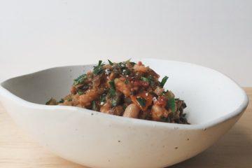 Ribollita in a white bowl