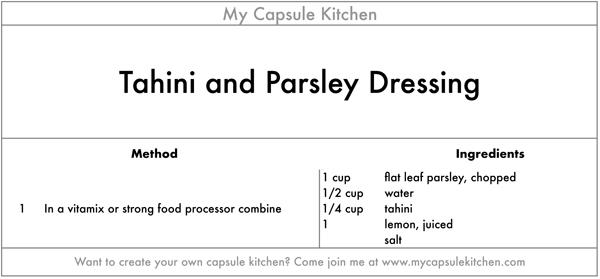 Tahini and Parsley Dressing recipe